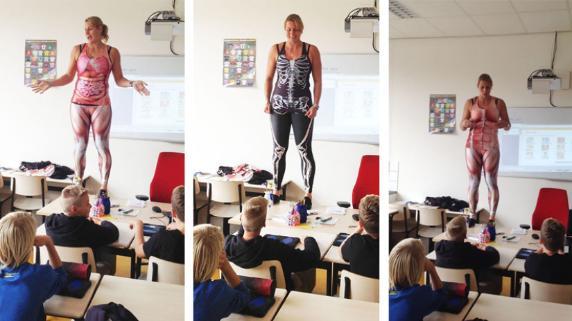 Profesora holandesa dicta clases de anatomía de manera original ...