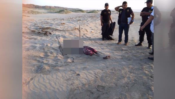 Cadáver playa Tumbes