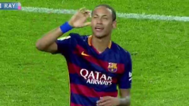 Neymar estrenó nuevo baile en el Barcelona vs. Rayo Vallecano