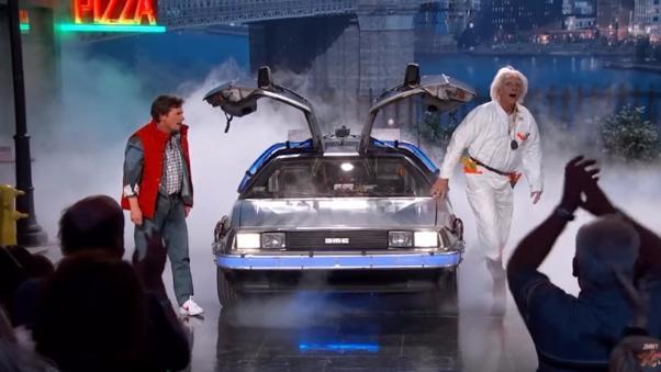 Marty McFly y Emmett Brown aparecieron en el set de 'Jimmy Kimmel Live!