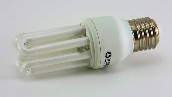 Foco ahorrador de energía.