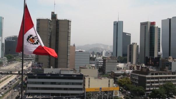 Centro financiero de Lima.