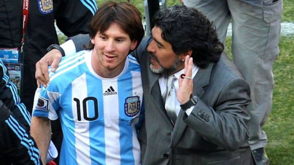 Lionel Messi y Diego Maradona.