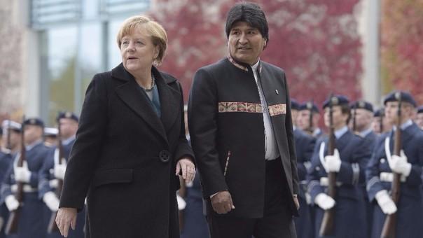 Angela Merkel y Evo Morales