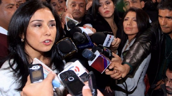 Nadine Heredia, primera dama de la Nación.