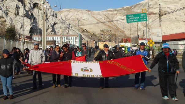Protesta de trabajadores Doe Run