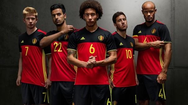 b7486417 Eurocopa Francia 2016: Bélgica presentó su nueva camiseta, que usará ...