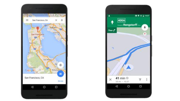 A partir de este martes se actualizarán las mejoras en las últimas versiones de Google Maps para Android
