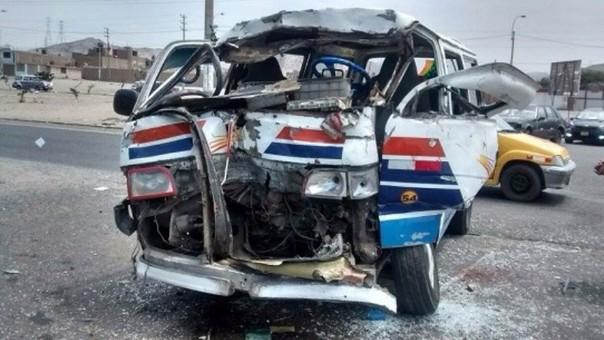 Accidente de transito en La Esperanza.