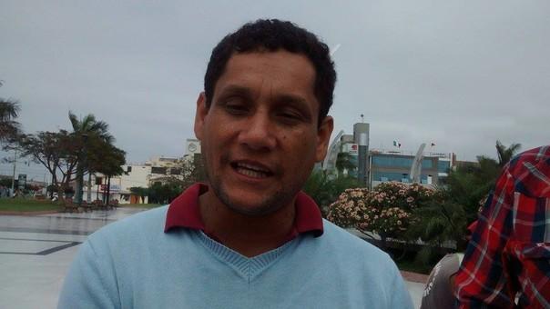 Alcalde del distrito de Nepeña, Manuel Figueroa.
