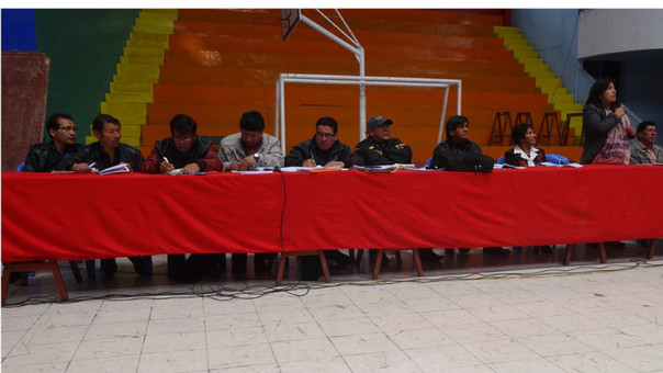 Reunión en La Oroya