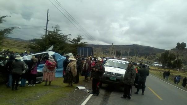 Accidente vehicular en Bambamarca.