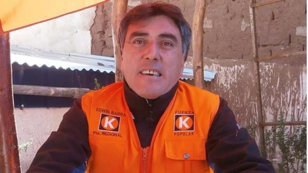 Edwin Barra Mindani postuló a la presidencia regional de Puno en el 2014.