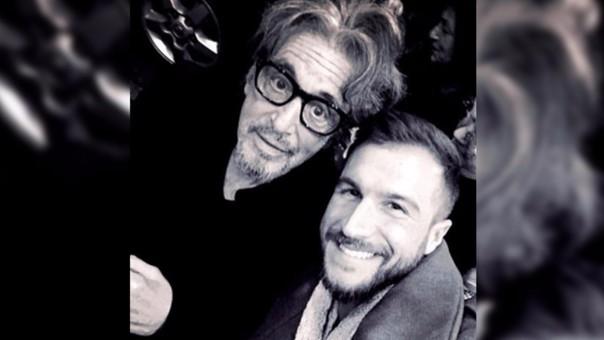 Al Pacino y David Villanueva se tomaron un selfie.