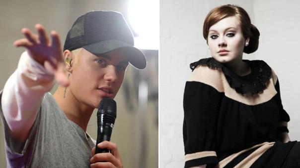 Justin Bieber y Adele