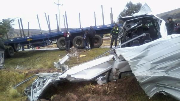 El accidente ocurrió en la provincia puneña de San Román.
