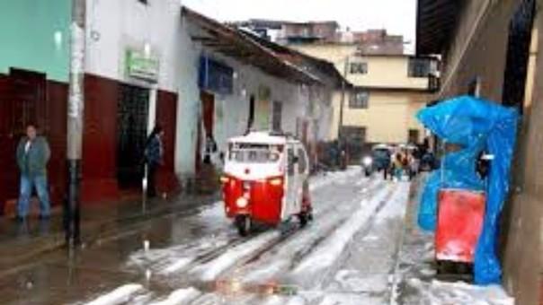 Granizada en Huamachuco