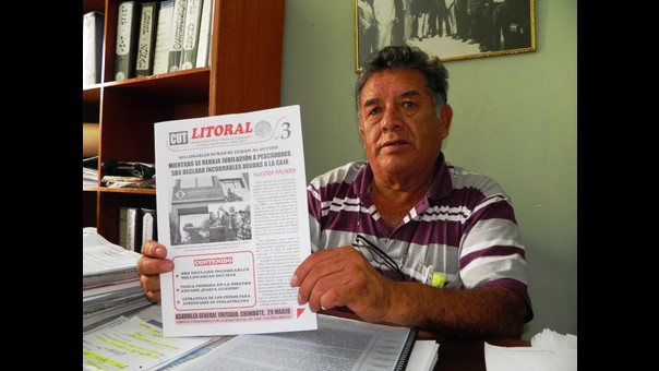 Delegado nacional del Sindicato de Pescadores de Chimbote, Javier Castro
