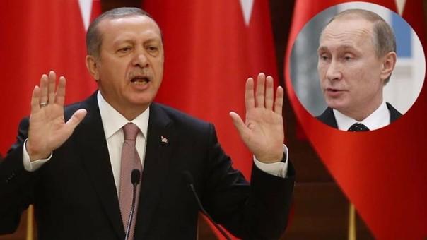 Recep Tayyip Erdogan  y Vladimir Putin
