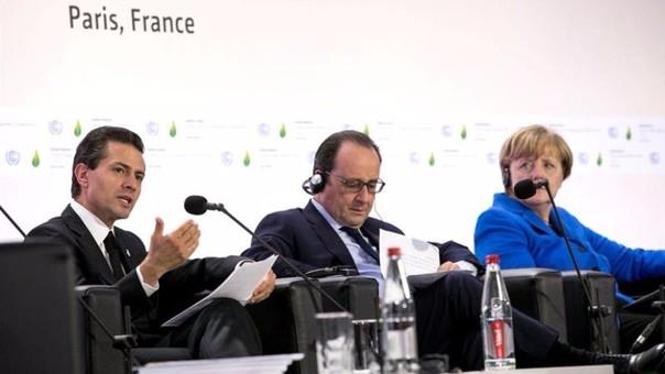 Peña Nieto, Hollande y Merkel en COP21