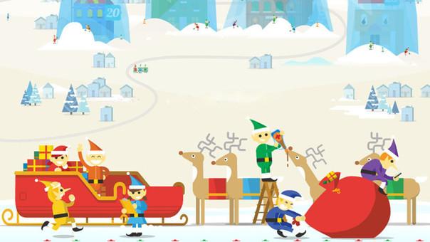 Google se sumó a las festividades navideñas