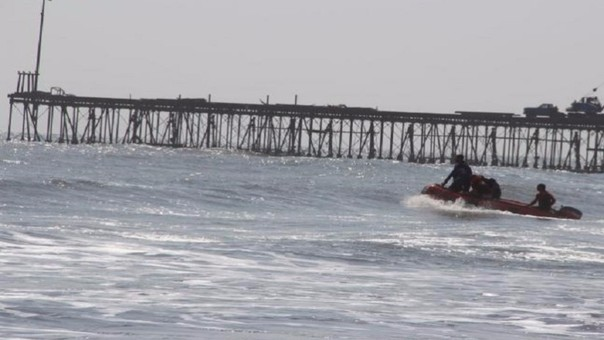 Primera victima en la playa de Pimentel.