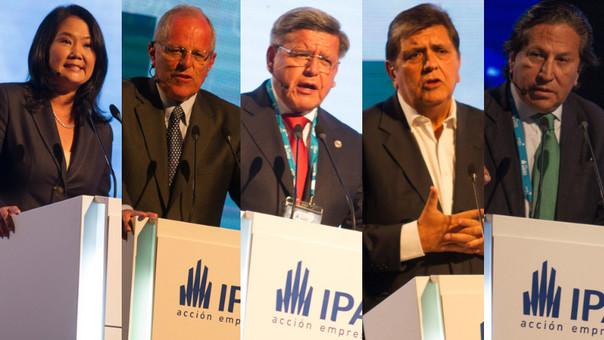 Candidatos presidenciales en CADE 2015.