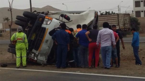 accidente camion pucusana