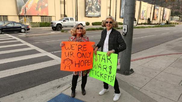 Carrie Fisher y Ellen DeGeneres
