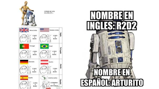 El recordado androide R2-D2 pasó a adoptar el singular nombre de
