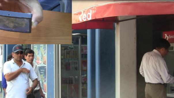 Cuidado con objetos prohibidos en cajeros automáticos.