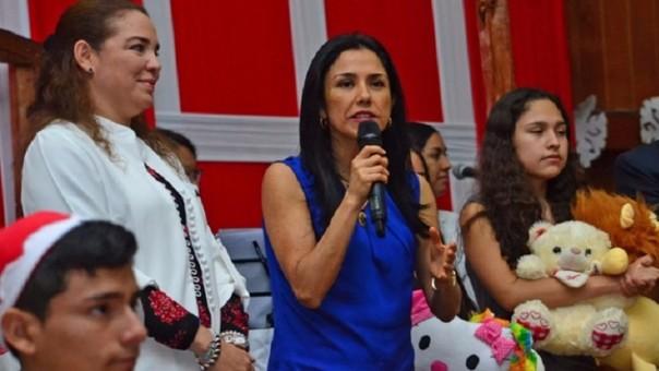 Nadine Heredia, presidenta del Partido Nacionalista