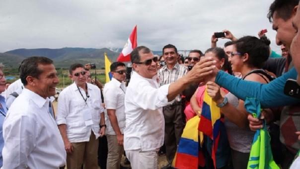 Presidentes Rafael Correa y Ollanta Humala
