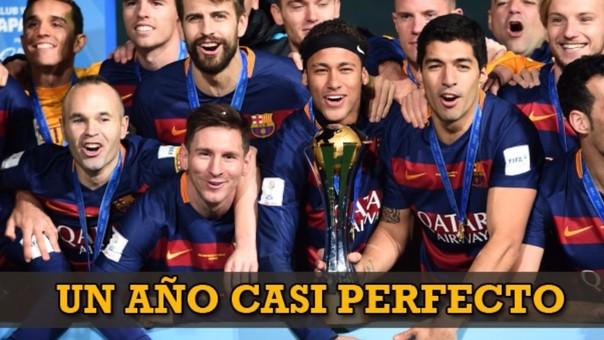 Barcelona cerró un 2015 casi perfecto