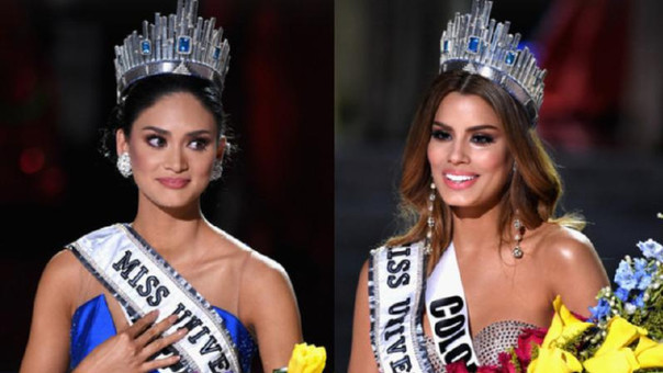Miss Filipinas y Miss Colombia
