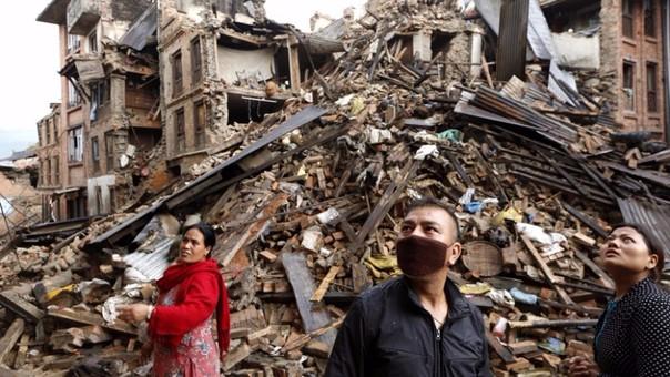 Imagen tras el terremoto de Nepal