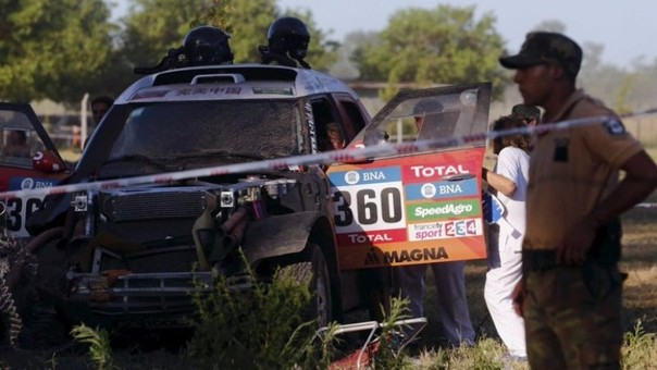 Accidente en el Rally Dakar 2016
