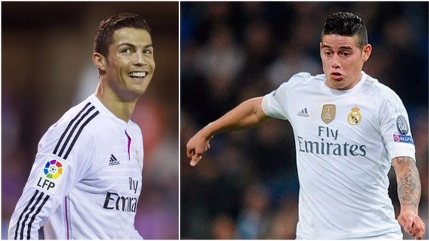 Cristiano Ronaldo se burló de James Rodríguez