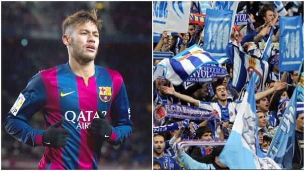 Neymar insultado por los hinchas del Españyol