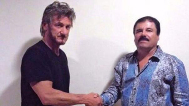 Esta es la fotografía que atestigua la entrevista que realizó el actor Sean Penn a Joaquín