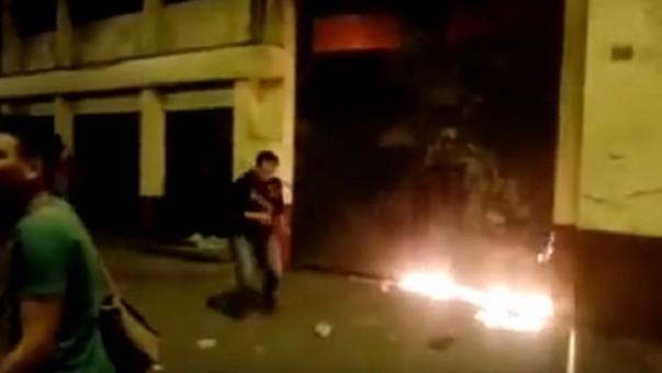 Fuego en la UNFV