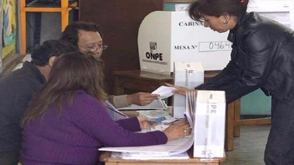 Onpe advierte cambios en locales de votación.