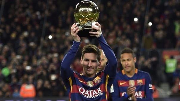 Lionel Messi presentó su Balón de Oro