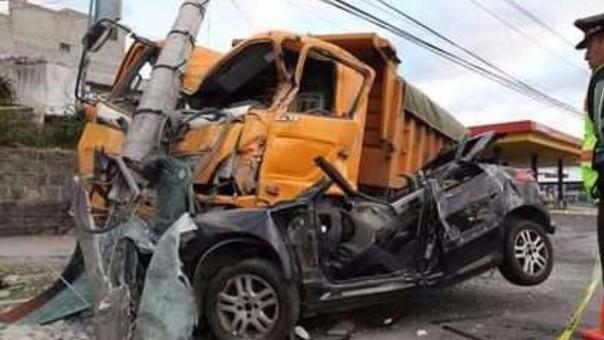 Accidente en la ciudad de Cajamarca