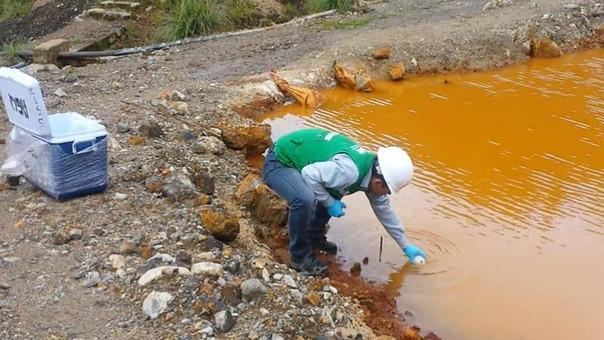 OEFA ordena a compañía minera San Nicolás detener descarga de agua