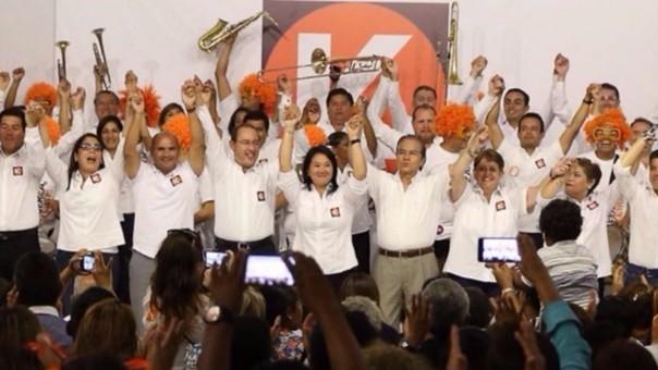 Keiko Fujimori y su plancha congresal en Lima