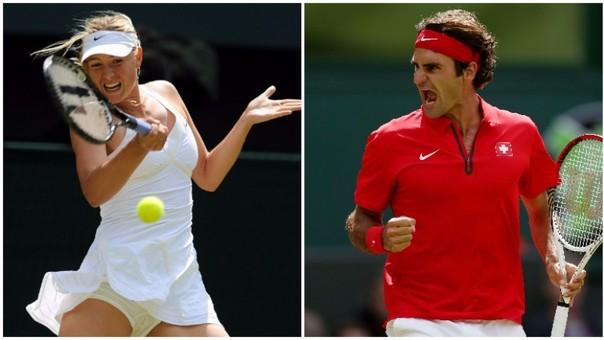 Maria Sharapova y Roger Federer