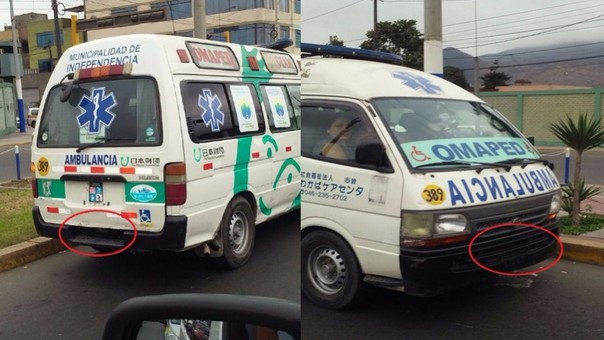 Ambulancia sin placa