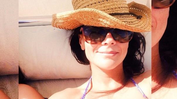Mónica Sánchez compartió una foto en bikini.