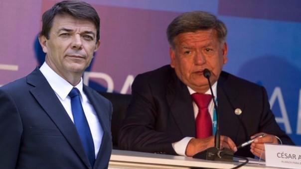 Carlos Andradas y César Acuña